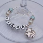 Shell Personalised Wine Glass Charm - Elegance Style